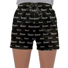 Beauty Moments Phrase Pattern Sleepwear Shorts