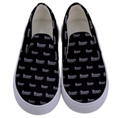 Beauty Moments Phrase Pattern Kids  Canvas Slip Ons
