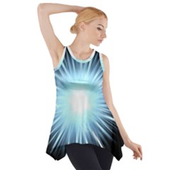 Bright Light On Black Background Side Drop Tank Tunic