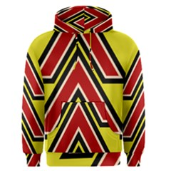Chevron Symbols Multiple Large Red Yellow Men s Pullover Hoodie