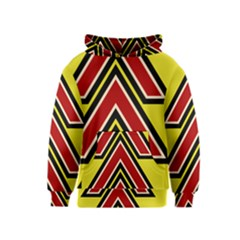 Chevron Symbols Multiple Large Red Yellow Kids  Pullover Hoodie