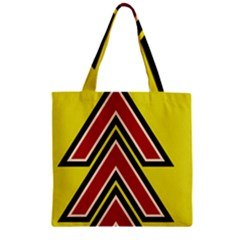 Chevron Symbols Multiple Large Red Yellow Zipper Grocery Tote Bag