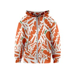 Carrots Fruit Vegetable Orange Kids  Zipper Hoodie