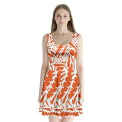 Carrots Fruit Vegetable Orange Split Back Mini Dress