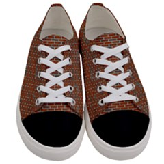 Brick Wall Brown Line Women s Low Top Canvas Sneakers
