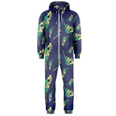 Canaries Budgie Pattern Bird Animals Cute Hooded Jumpsuit (men)