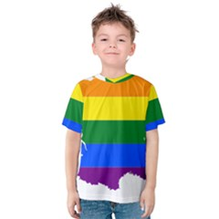 Flag Map Stripes Line Colorful Kids  Cotton Tee