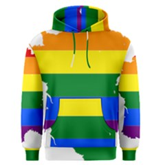 Flag Map Stripes Line Colorful Men s Pullover Hoodie
