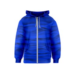 Dark Blue Stripes Seamless Kids  Zipper Hoodie