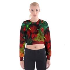 Flower Power, Wonderful Flowers, Vintage Design Cropped Sweatshirt