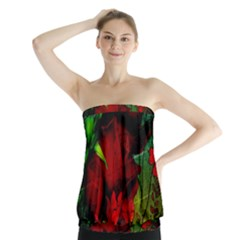 Flower Power, Wonderful Flowers, Vintage Design Strapless Top