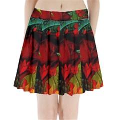 Flower Power, Wonderful Flowers, Vintage Design Pleated Mini Skirt