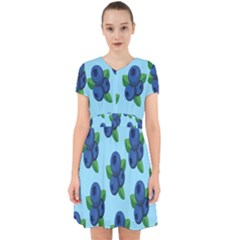 Fruit Nordic Grapes Green Blue Adorable In Chiffon Dress
