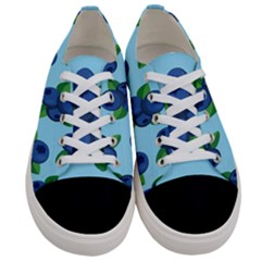 Fruit Nordic Grapes Green Blue Women s Low Top Canvas Sneakers