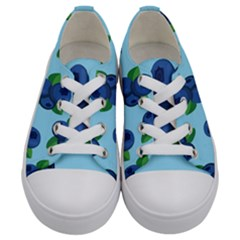 Fruit Nordic Grapes Green Blue Kids  Low Top Canvas Sneakers