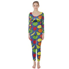 Fruit Melon Cherry Apple Strawberry Banana Apple Long Sleeve Catsuit