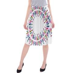 Free Symbol Hands Midi Beach Skirt