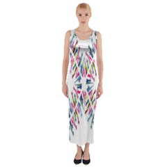 Free Symbol Hands Fitted Maxi Dress