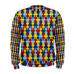 Fuzzle Red Blue Yellow Colorful Men s Sweatshirt