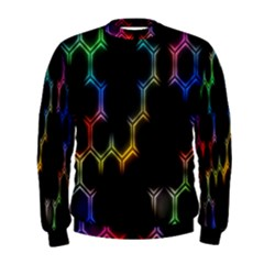 Grid Light Colorful Bright Ultra Men s Sweatshirt