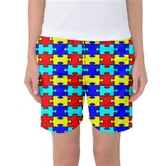 Game Puzzle Women s Basketball Shorts