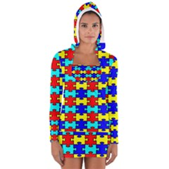 Game Puzzle Long Sleeve Hooded T Shirt