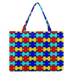 Game Puzzle Zipper Medium Tote Bag