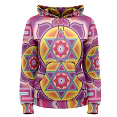 Kali Yantra Inverted Rainbow Women s Pullover Hoodie