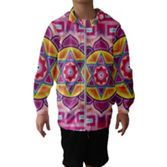 Kali Yantra Inverted Rainbow Hooded Wind Breaker (kids)