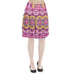 Kali Yantra Inverted Rainbow Pleated Skirt