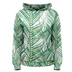 Jungle Fever Green Leaves Women s Pullover Hoodie