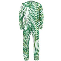 Jungle Fever Green Leaves Onepiece Jumpsuit (men)