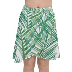 Jungle Fever Green Leaves Chiffon Wrap