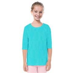 Line Blue Kids  Quarter Sleeve Raglan Tee