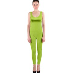Line Green Onepiece Catsuit