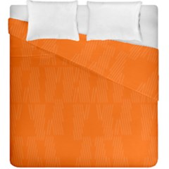 Line Orange Duvet Cover Double Side (king Size)