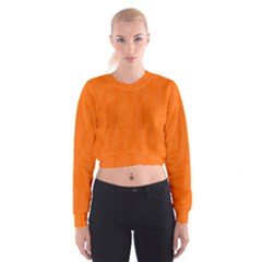 Line Orange Cropped Sweatshirt