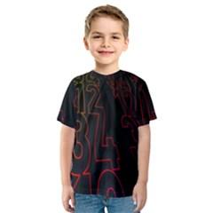Neon Number Kids  Sport Mesh Tee