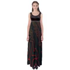 Neon Number Empire Waist Maxi Dress