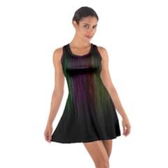 Line Rain Rainbow Light Stripes Lines Flow Cotton Racerback Dress