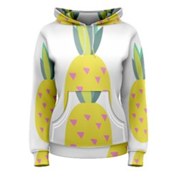Pineapple Fruite Yellow Triangle Pink Women s Pullover Hoodie