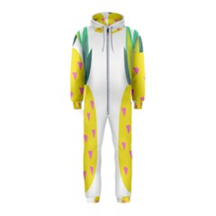 Pineapple Fruite Yellow Triangle Pink Hooded Jumpsuit (kids)