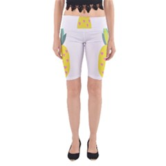 Pineapple Fruite Yellow Triangle Pink Yoga Cropped Leggings