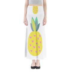 Pineapple Fruite Yellow Triangle Pink Full Length Maxi Skirt