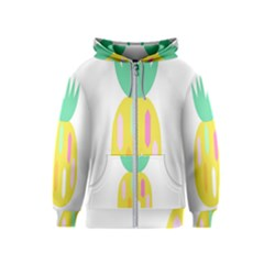 Pineapple Fruite Yellow Triangle Pink White Kids  Zipper Hoodie