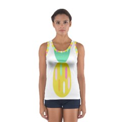 Pineapple Fruite Yellow Triangle Pink White Sport Tank Top