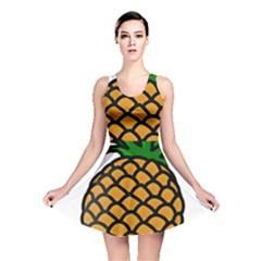 Pineapple Fruite Yellow Green Orange Reversible Skater Dress