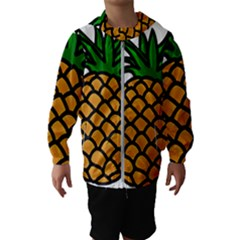 Pineapple Fruite Yellow Green Orange Hooded Wind Breaker (kids)