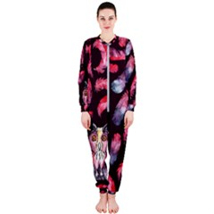 Boho Owl And Feather Pattern Onepiece Jumpsuit (ladies)