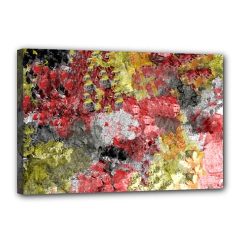 Garden Abstract Canvas 18  X 12